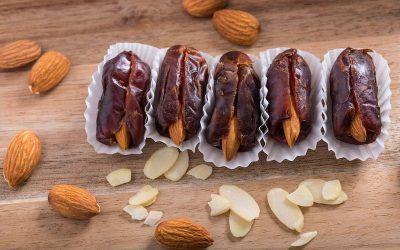 Nut Butter & Raw Nut Stuffed Dates